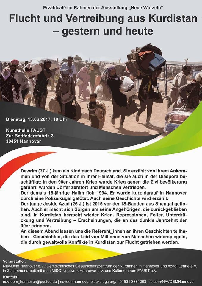 Veranstaltung_Flucht-aus-Kurdistan_NAV-DEM-Hannover+MiSO+Faust