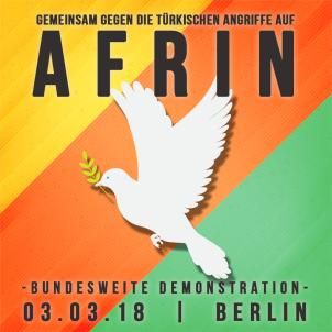 Frieden für Afrin - 03.03.2018, 12.00 Uhr, Berlin, Alexanderplatz