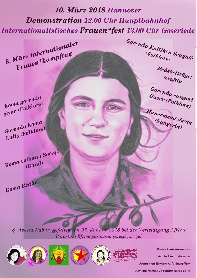 Internationalistisches Frauen*fest Frauenrat Ronahî Hannover