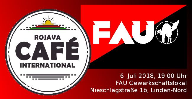 Café Rojava - international Juli 2018 Hannover