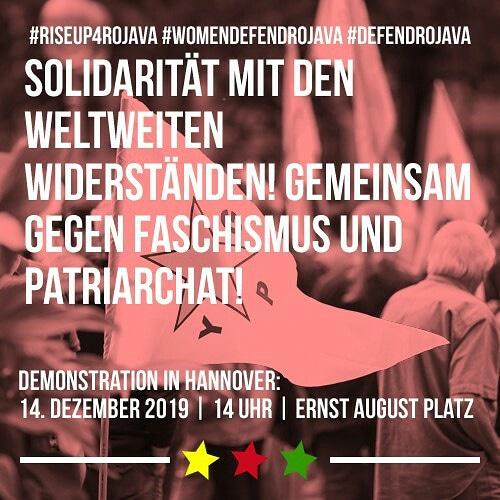 #RiseUp4Rojava Hannover Demonstration