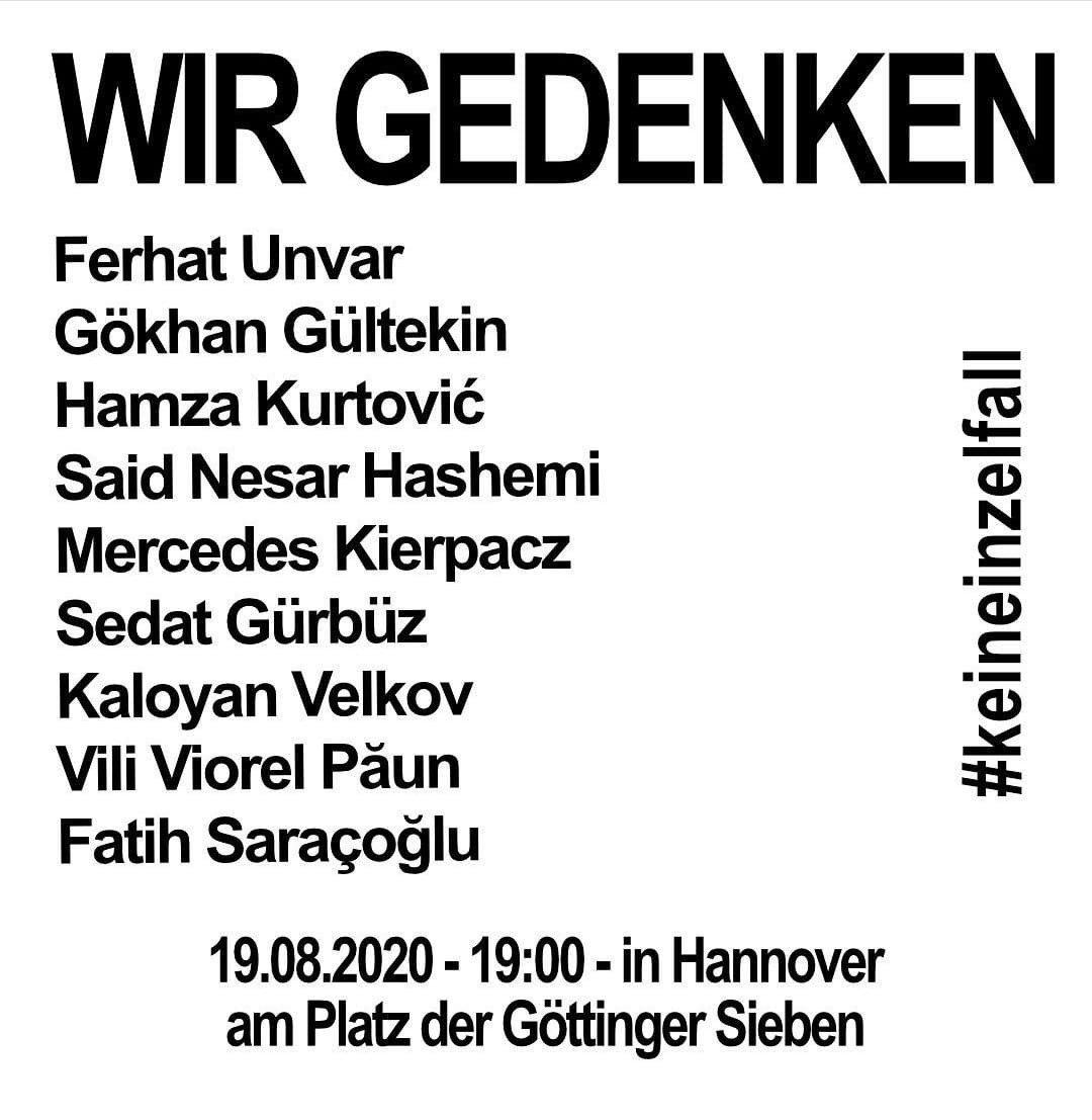 Hanau-Gedenken Hannover