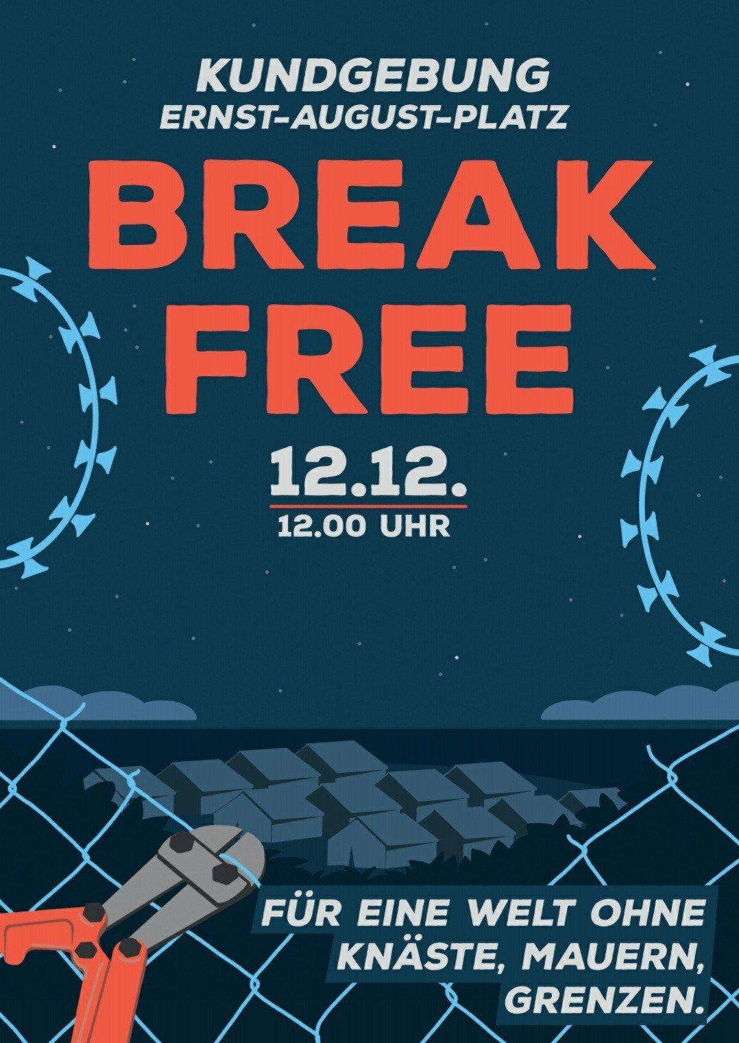 Break Free Kundgebung gegen Abschiebehaft Hannover 2020