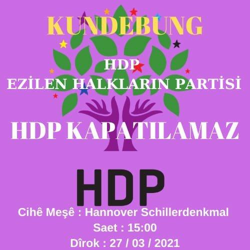 HDP-Kundgebung 27.03.2021 Hannover NAV-DEM